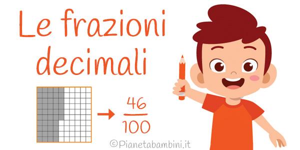 Esercizi sulle frazioni decimali per la terza e la quarta classe primaria