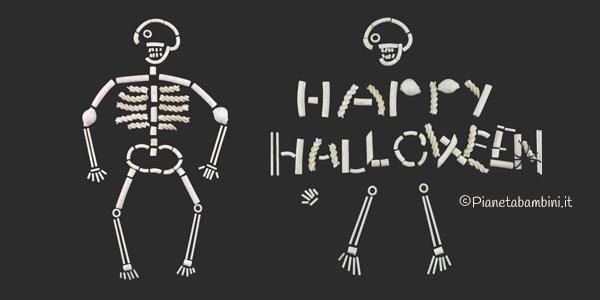 Come creare uno scheletro con pasta cruda come lavoretto di Halloween