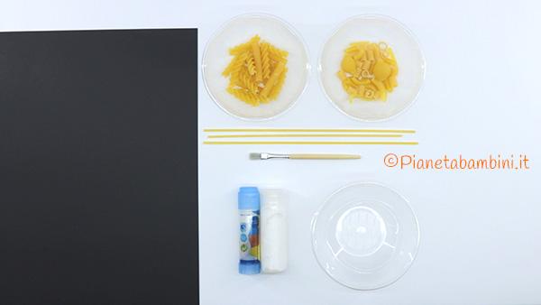 Occorrente per la creazione dello scheletro di pasta cruda