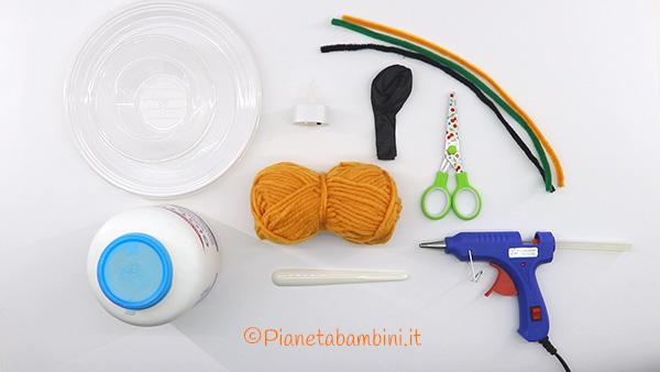 Occorrente per la creazione della zucca con filo e palloncino