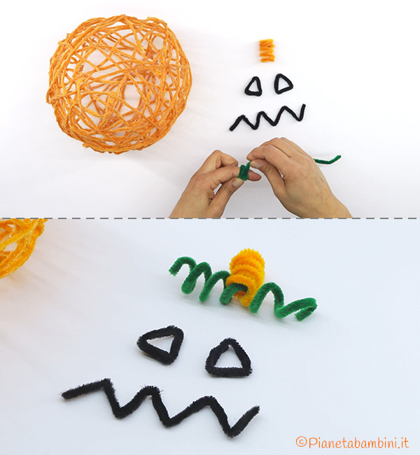 Come piegare gli scovolini per personalizzare la zucca