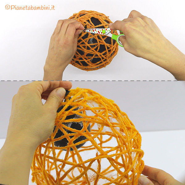 Rimozione del palloncino dal filo
