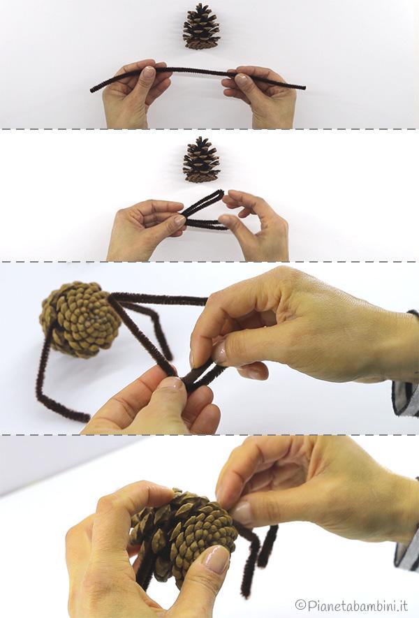 Come creare le zampe dei ragni con gli scovolini