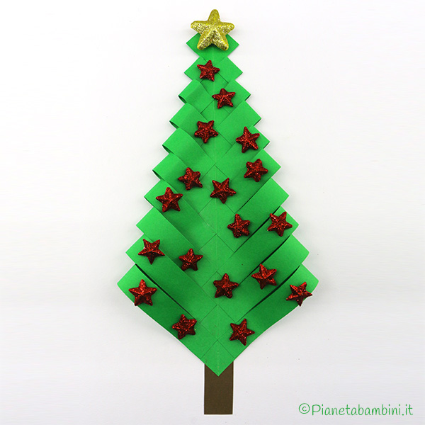 Tutorial albero di Natale con carta piegata