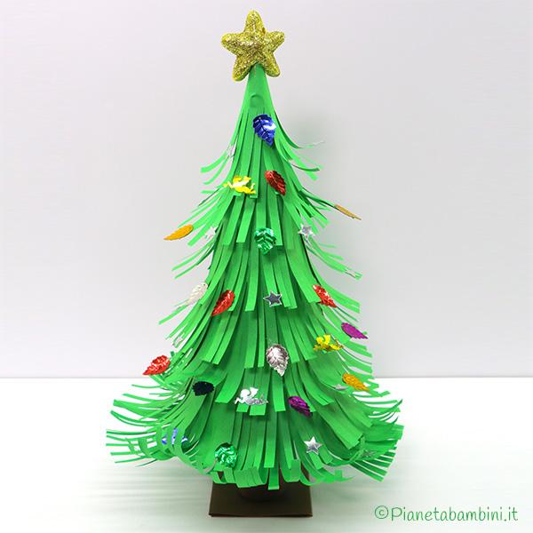 Tutorial albero di Natale con carta sfrangiata