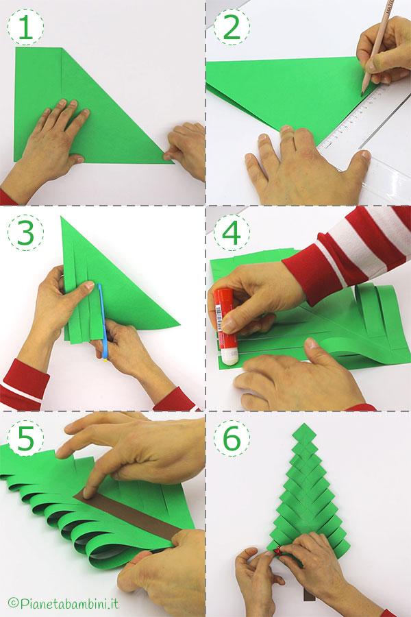 Come creare l'albero di Natale con carta piegata
