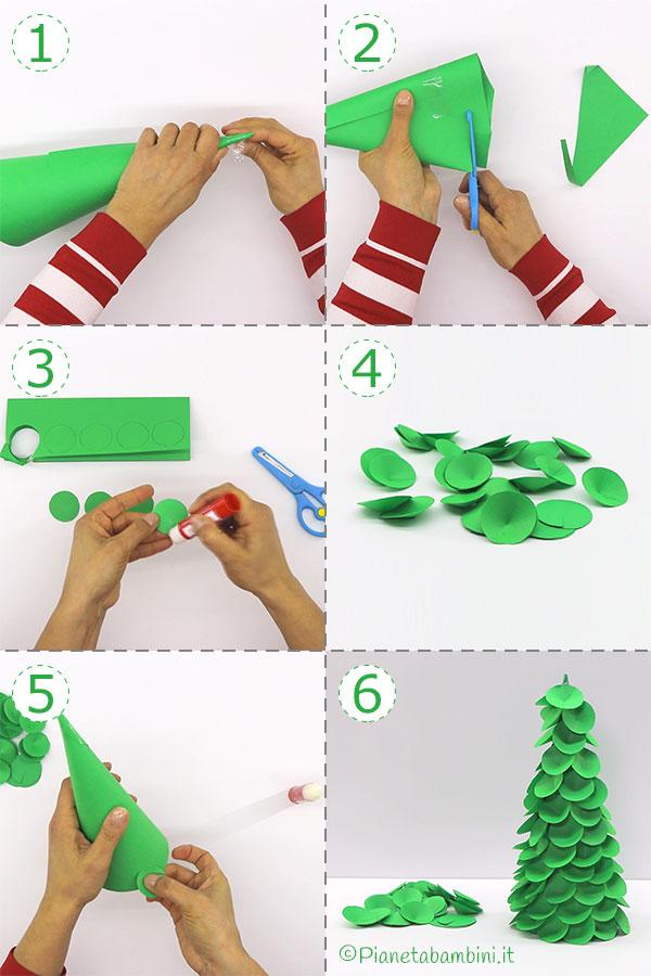 Come creare l'albero di Natale con carta e pon pon