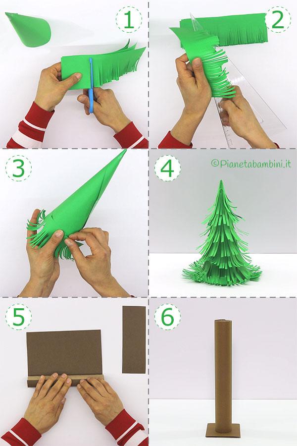 Come creare l'albero di Natale con carta sfrangiata