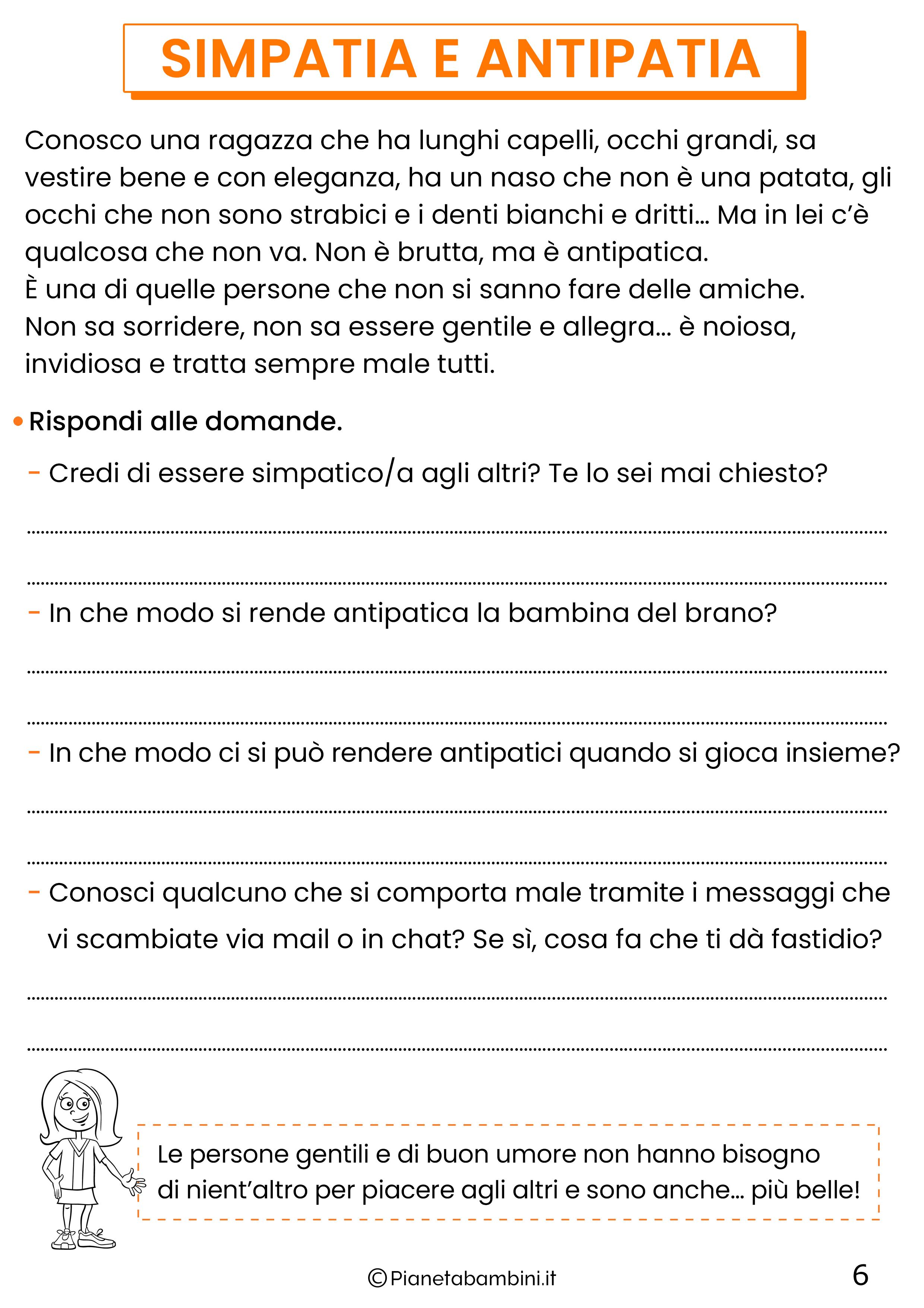 Schede didattiche di cittadinanza digitale per la classe quarta 6