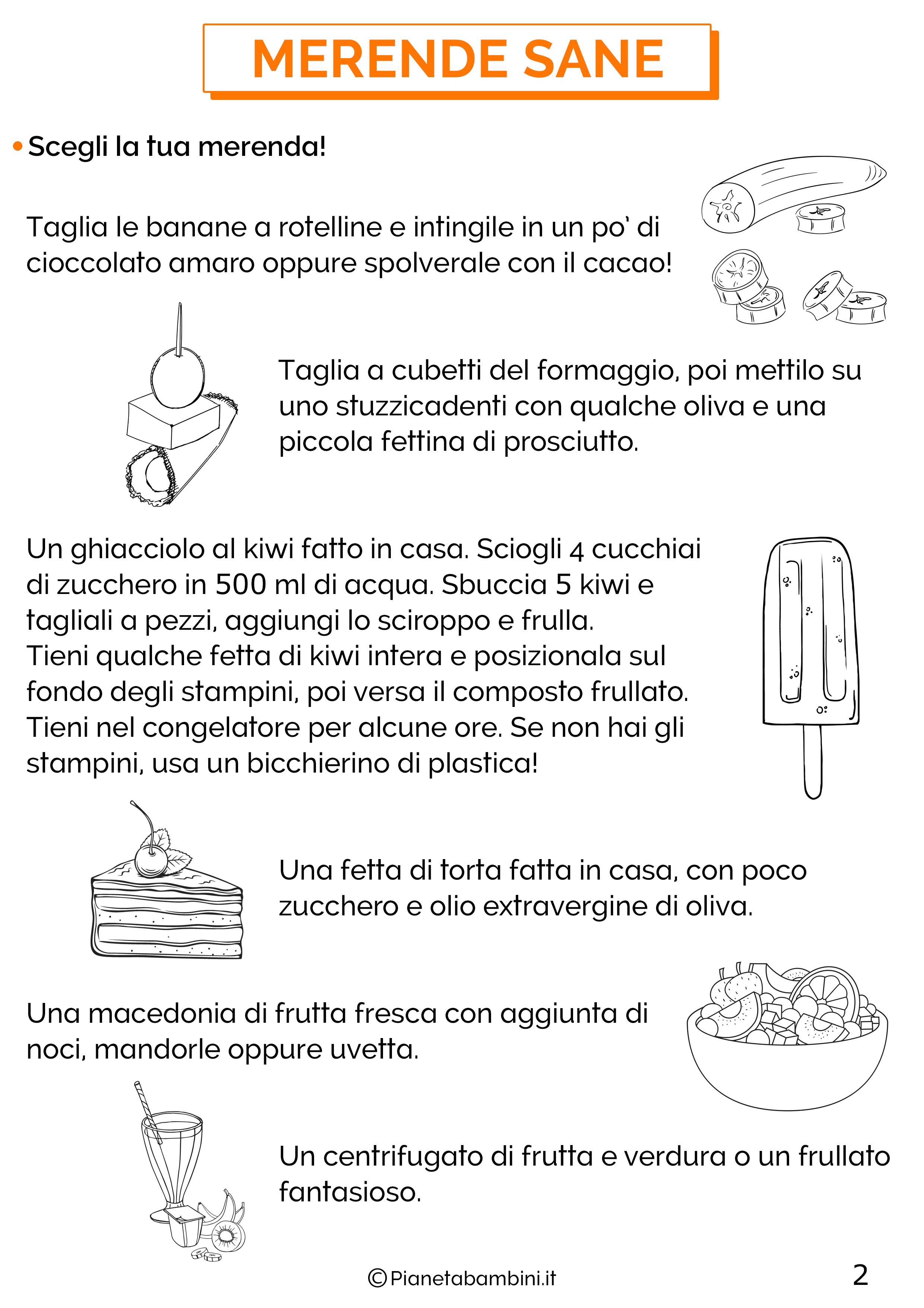 Schede didattiche educazione alimentare classe terza 2