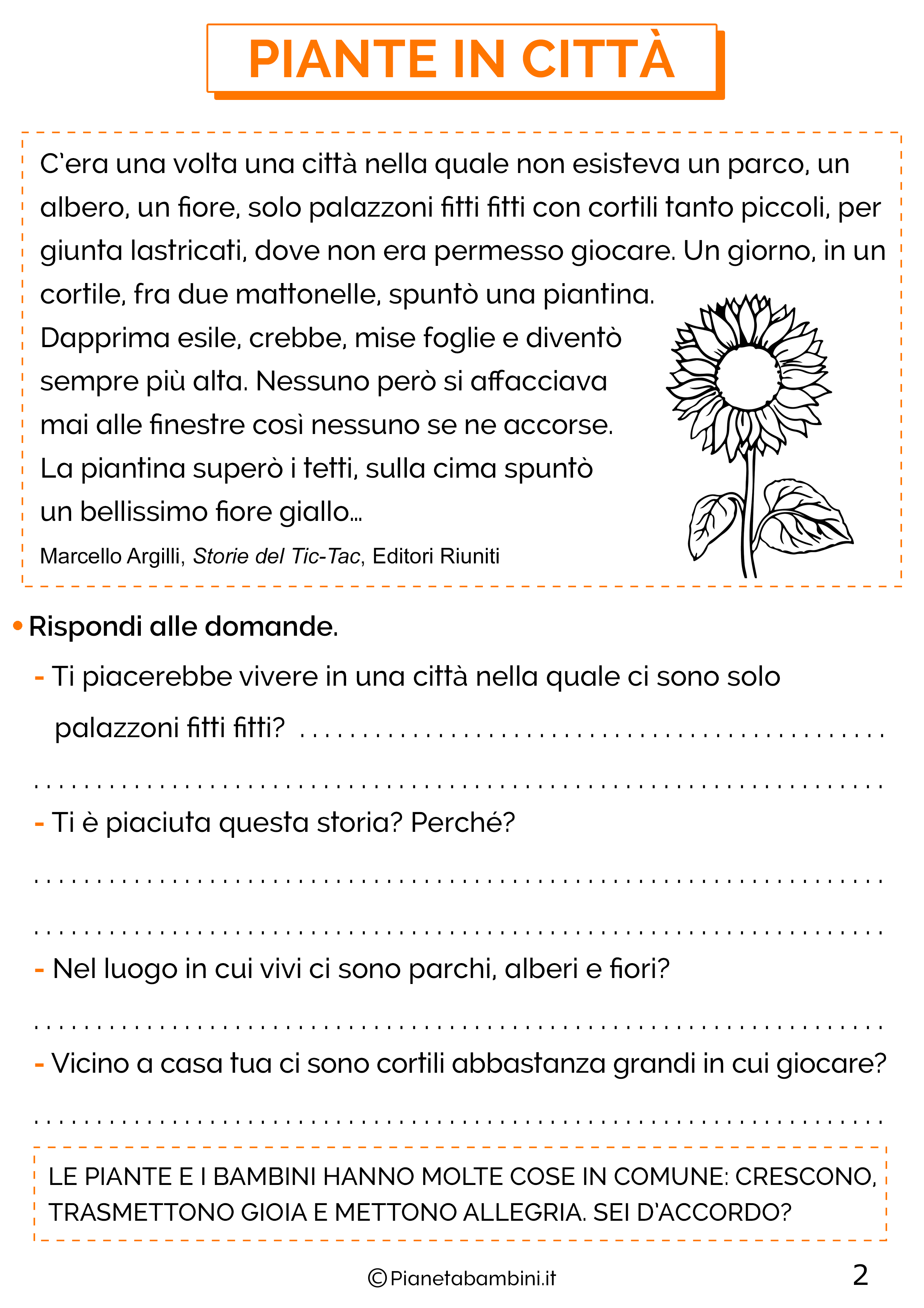 Schede didattiche sull'educazione ambientale per la classe seconda 2