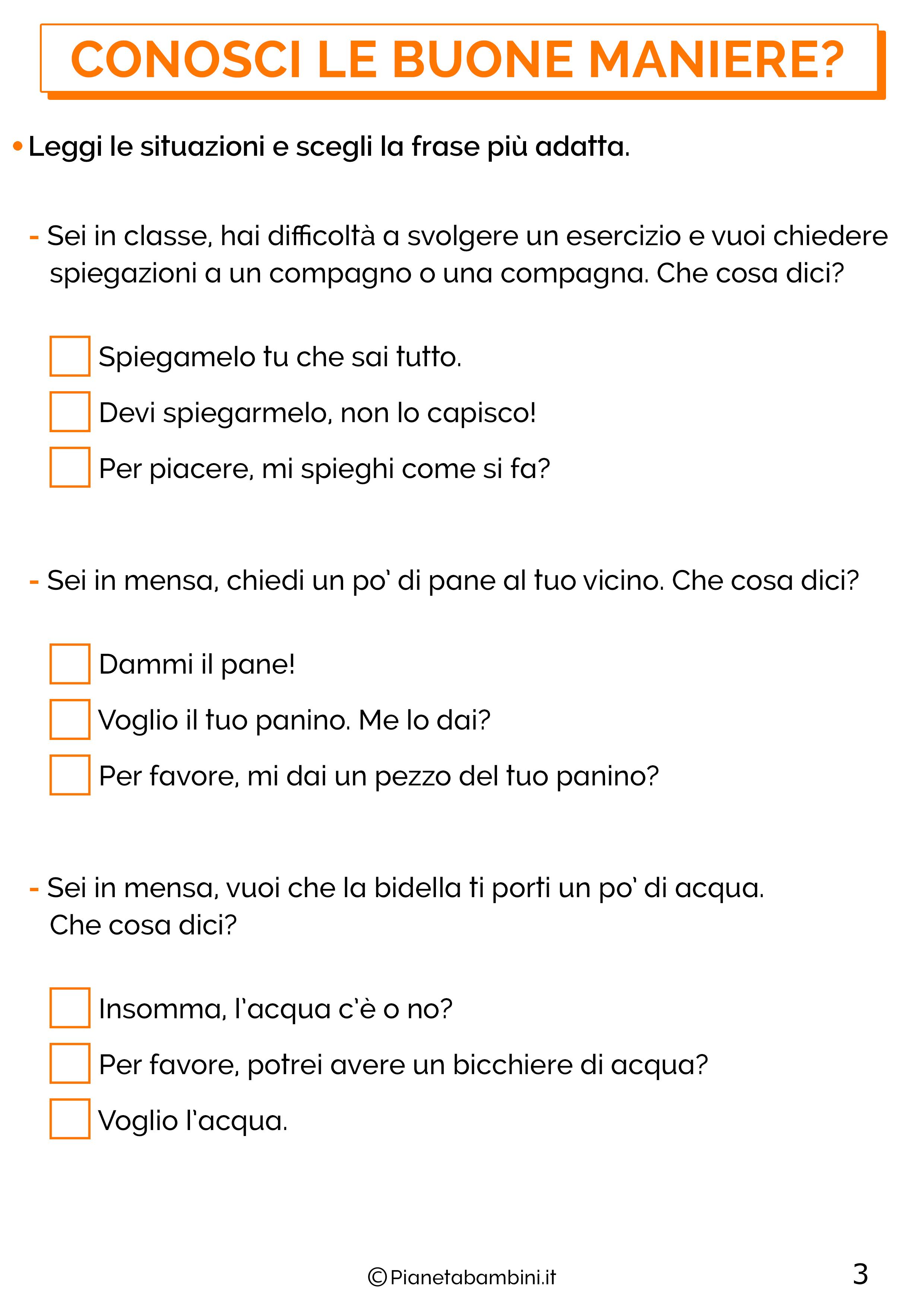 Schede didattiche sui diritti e doveri per la classe terza 3