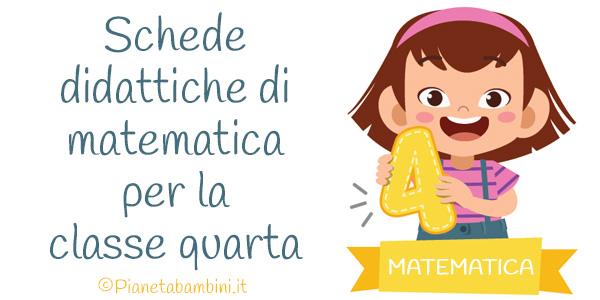 Schede didattiche di matematica per la classe quarta