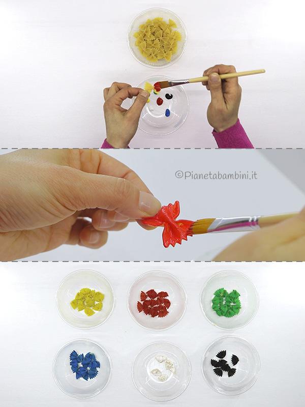 Come colorare la pasta per il lavoretto di Arlecchino