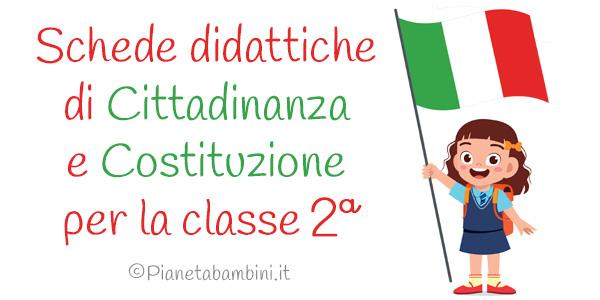Esercizi di cittadinanza e costituzione per la classe seconda