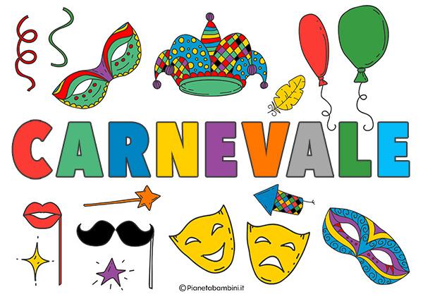 Scritta Carnevale