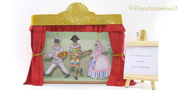 Lavoretto di Carnevale il teatro delle maschere tradizionali