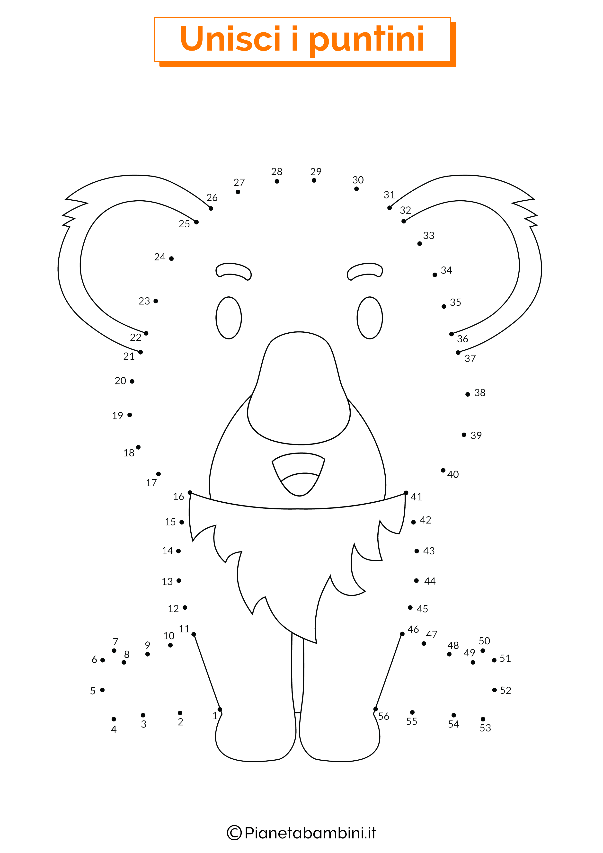 Disegno unisci i puntini da 1 a 50 koala