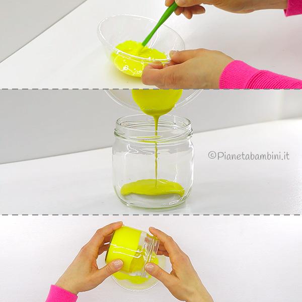 Come dipingere i vasetti di vetro per la creazione dei pulcini