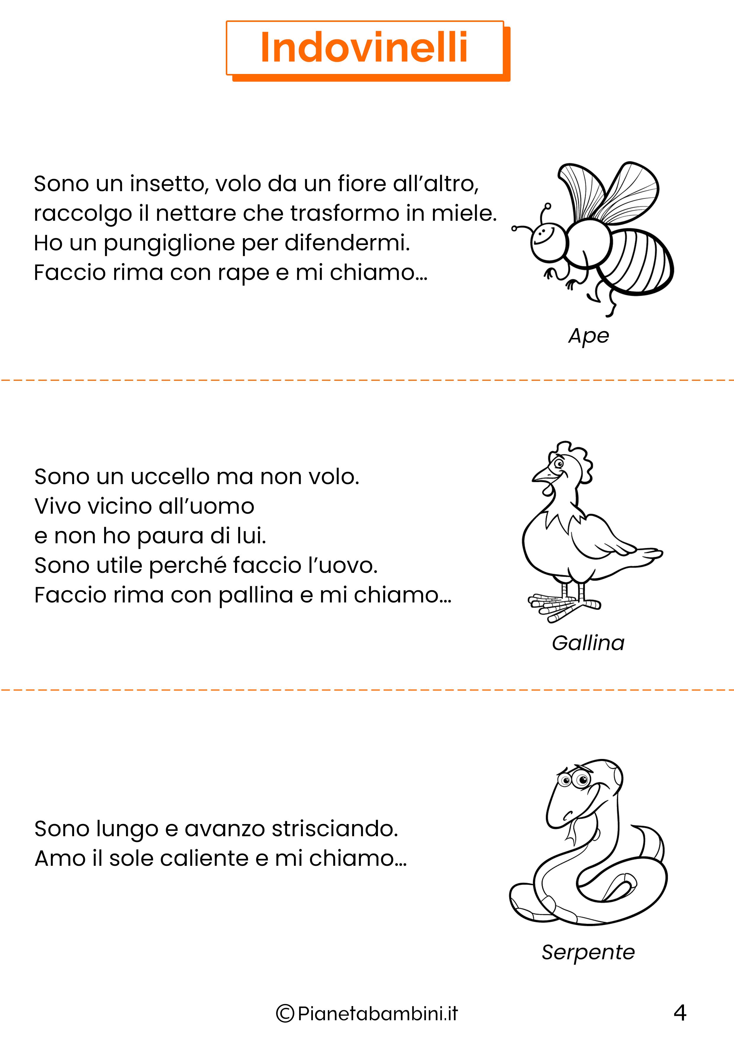 Indovinelli sugli animali per bambini 04