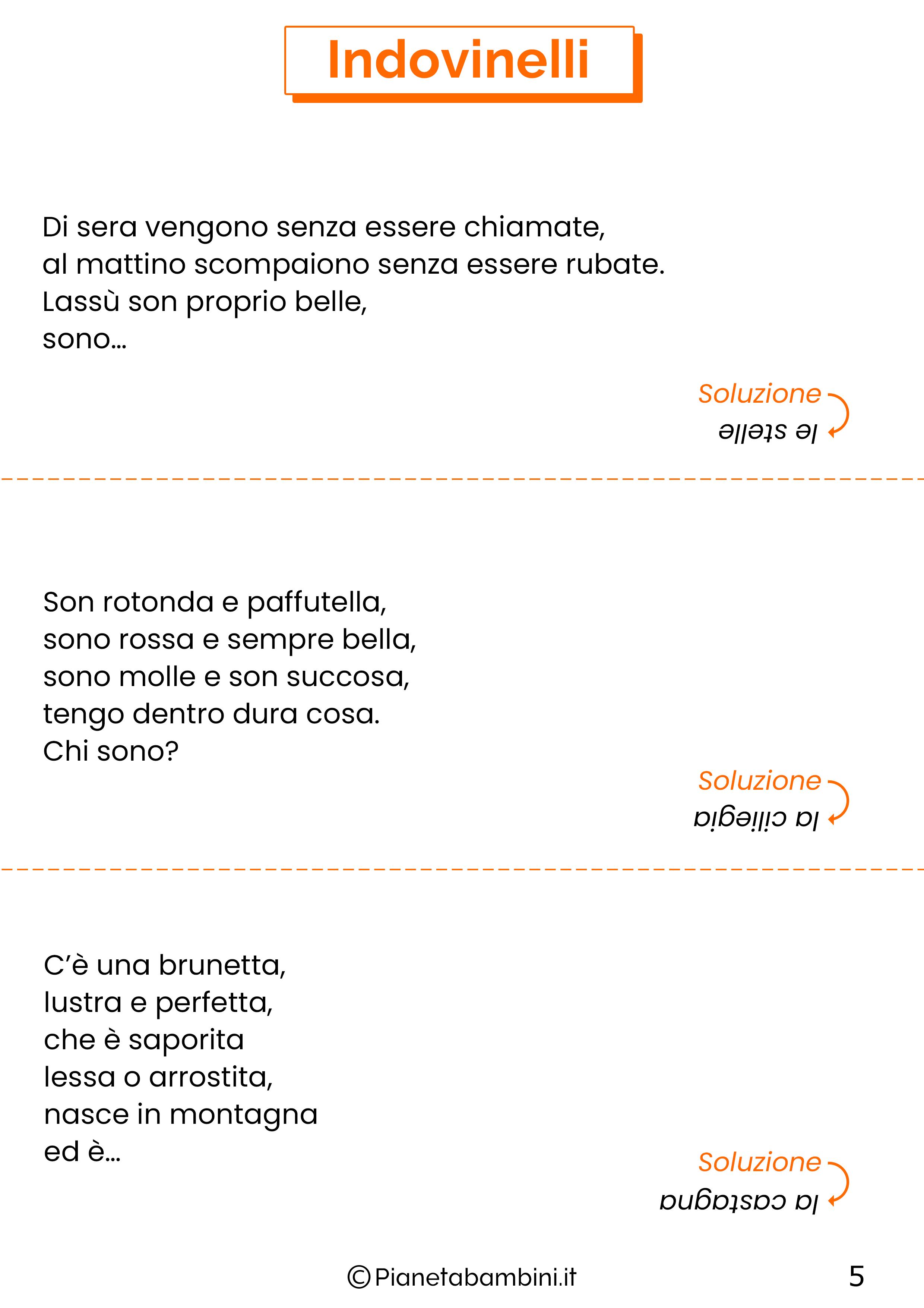 Indovinelli per bambini di 8-9-10 anni con soluzioni 05