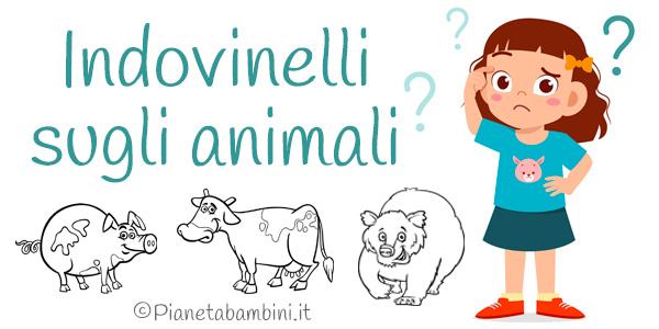 Indovinelli sugli animali per bambini con soluzioni