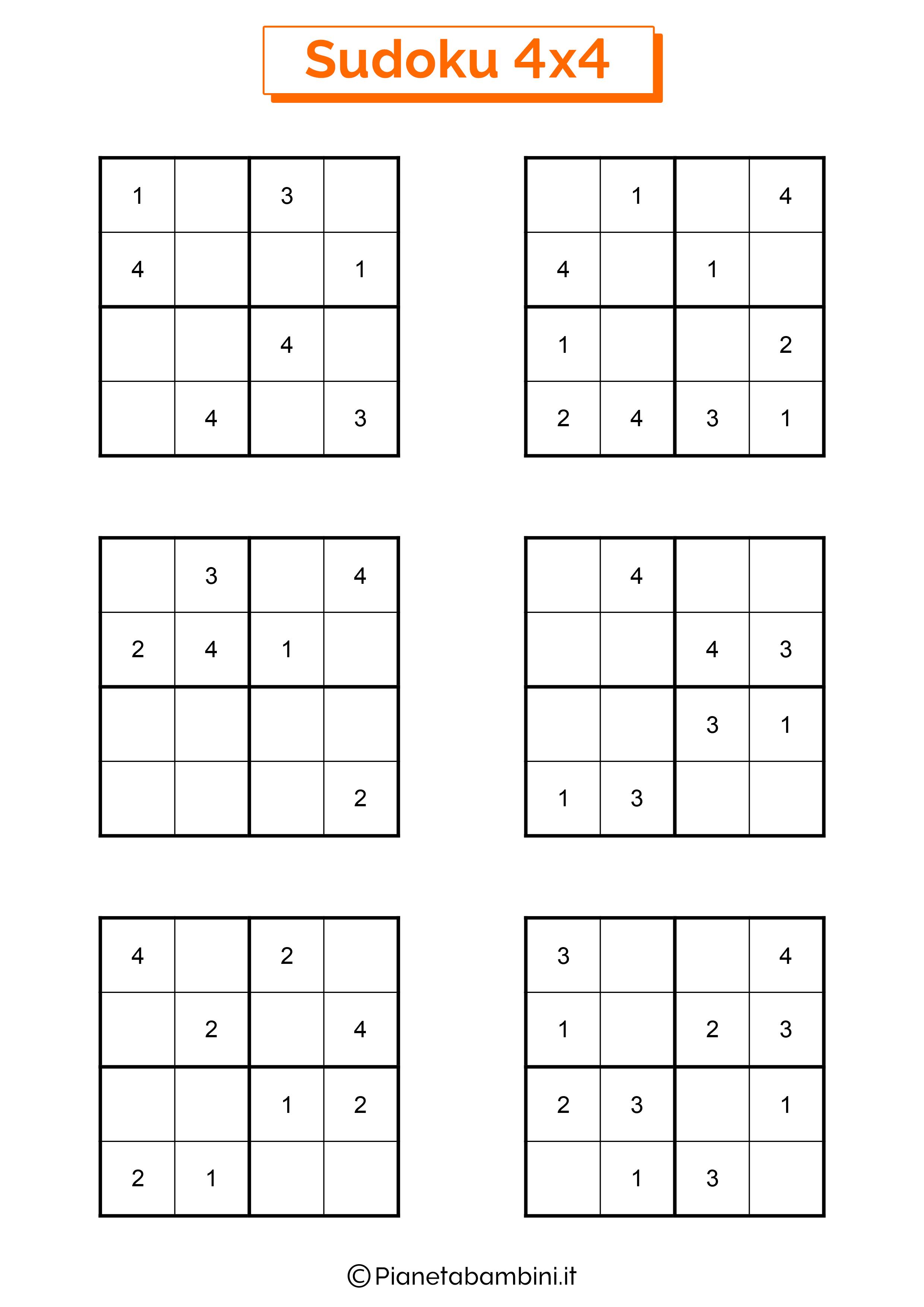 Sudoku facili per bambini pagina 10