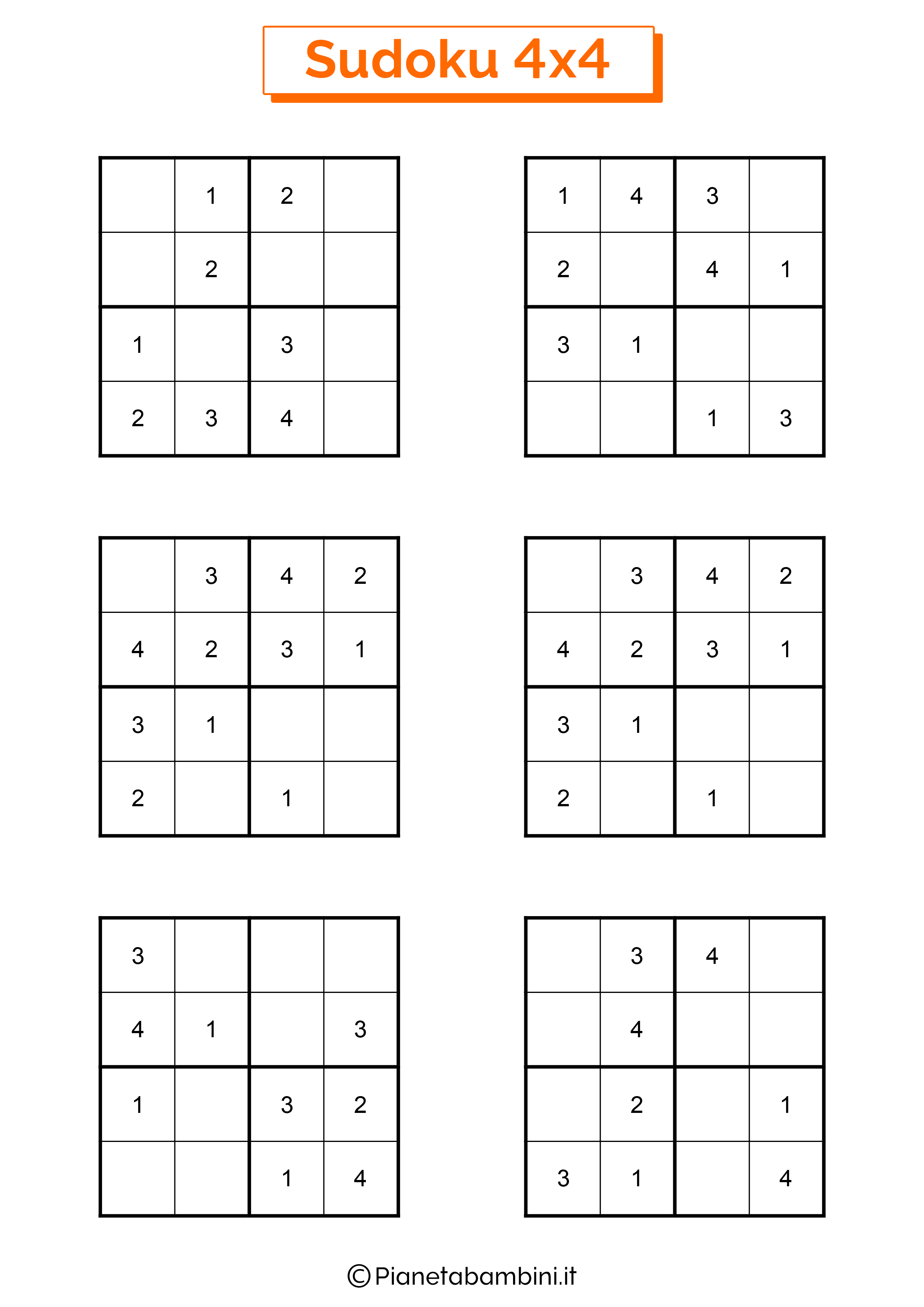 Sudoku facili per bambini pagina 11