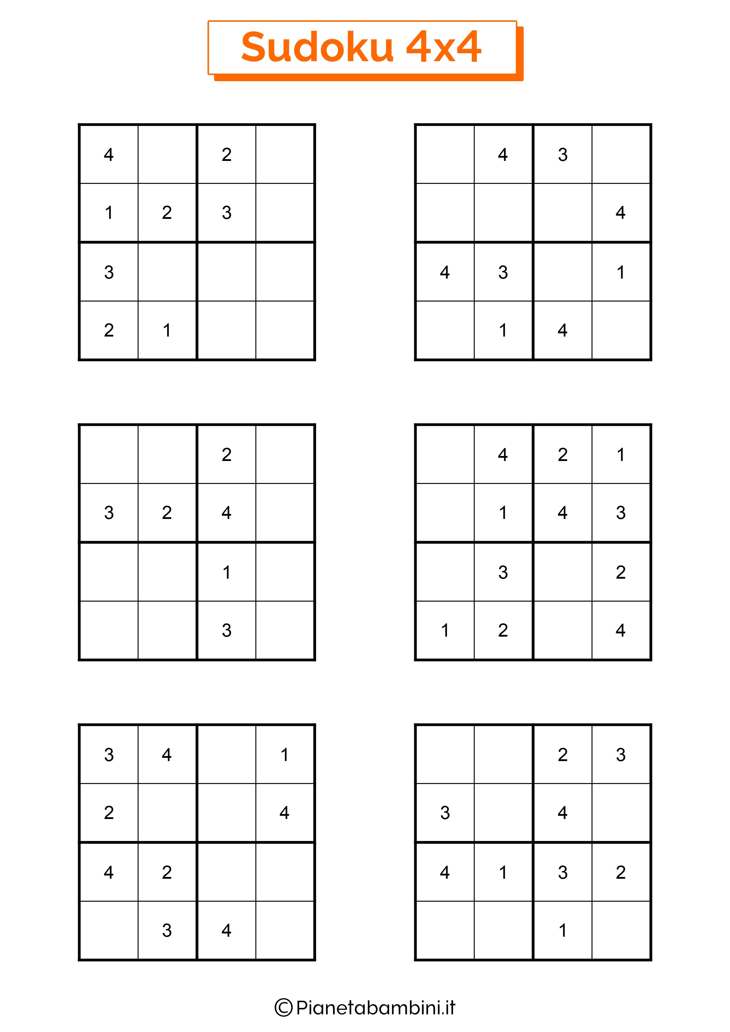 Sudoku facili per bambini pagina 12