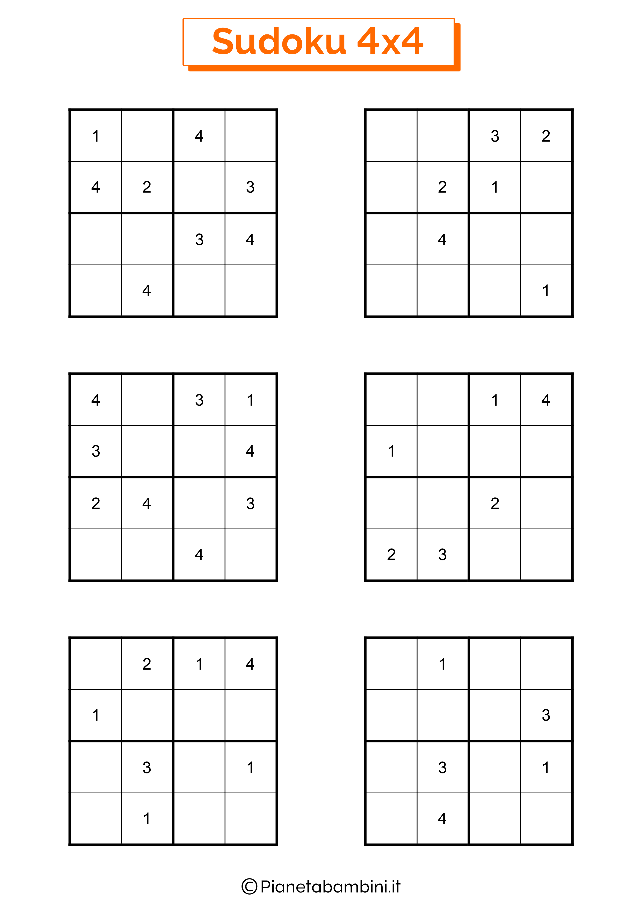 Sudoku facili per bambini pagina 13