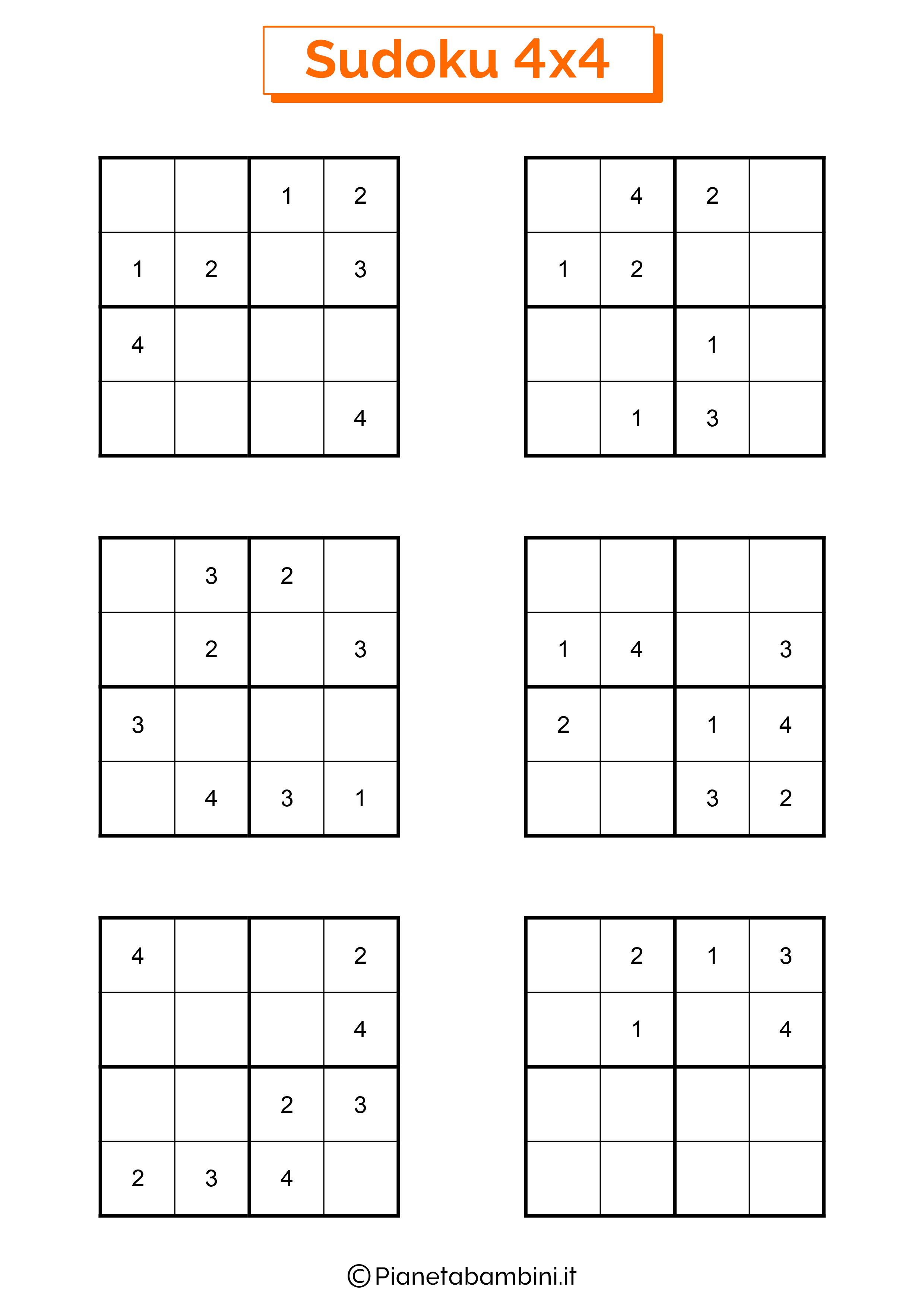 Sudoku facili per bambini pagina 14