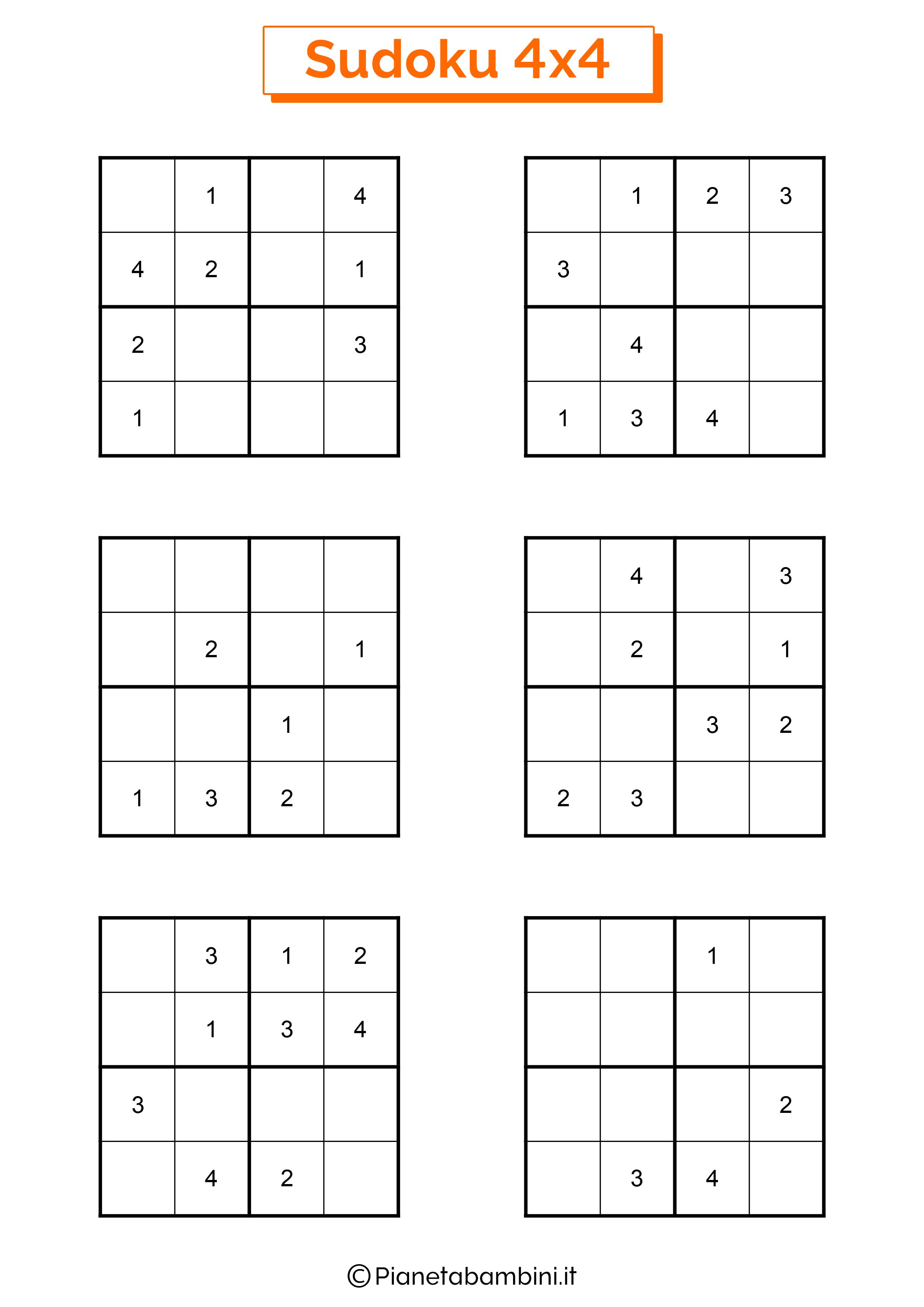 Sudoku facili per bambini pagina 15