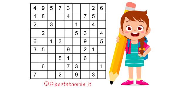 Sudoku difficili per bambini da stampare