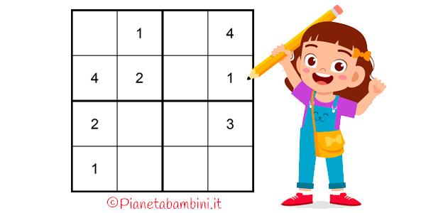 Sudoku facili per bambini da stampare