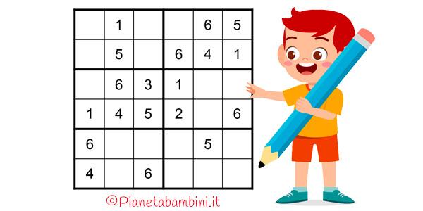 Sudoku media difficoltà da stampare per bambini