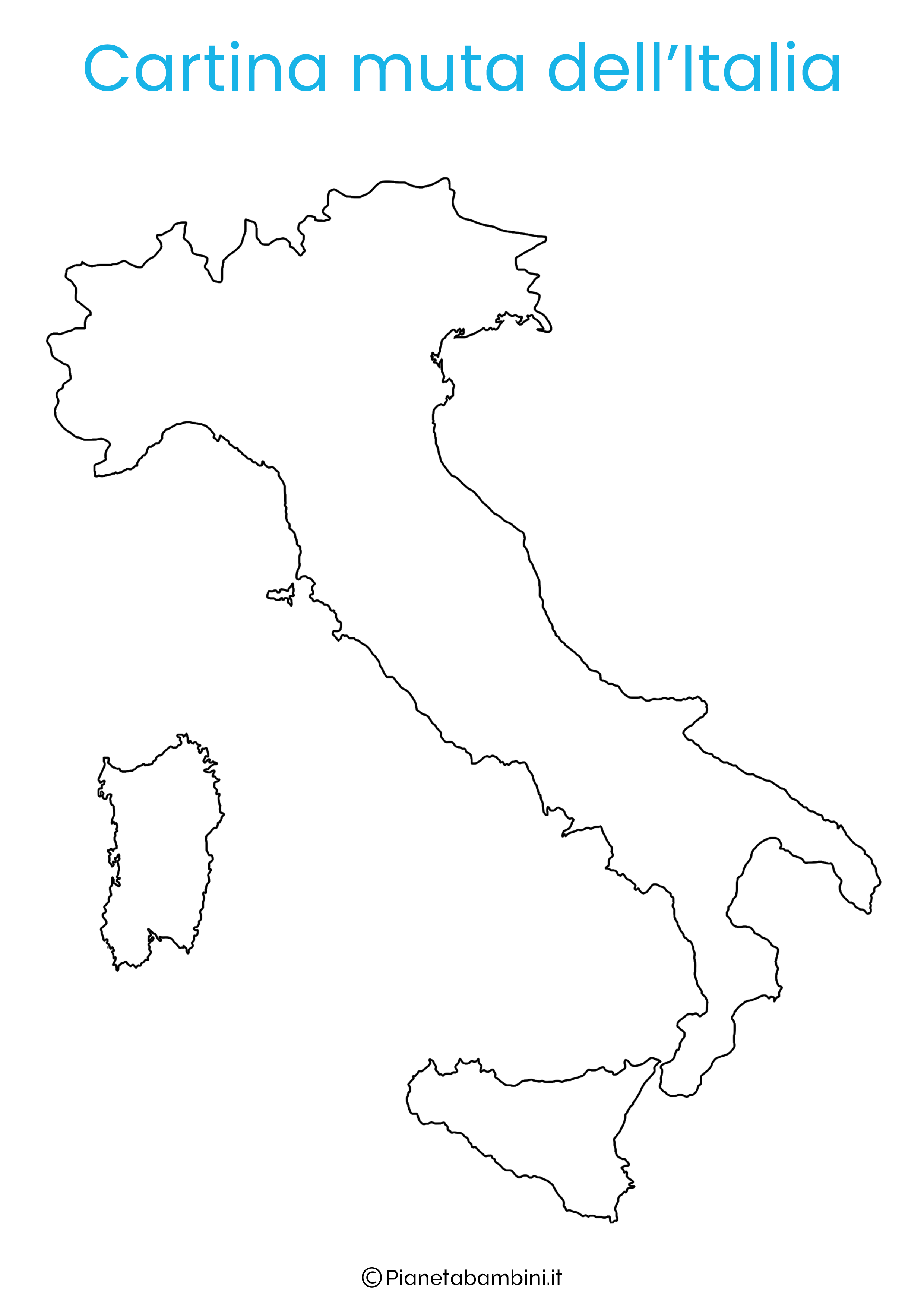 Cartina Dell Italia Solo Contorno.Cartina Geografica Dell Europa Fisica Da Colorare