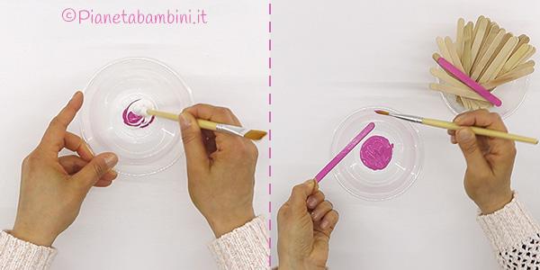 Come dipingere i bastoncini per la scatola portagioie fai da te