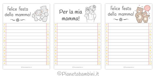 Letterine per la festa della mamma pronte da stampare