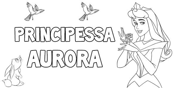 Disegni da colorare della principessa Aurora