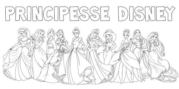Disegni delle principesse Disney da stampare e colorare