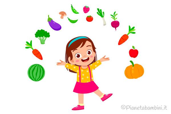 I colori e i sapori di frutta e verdura nelle scuole