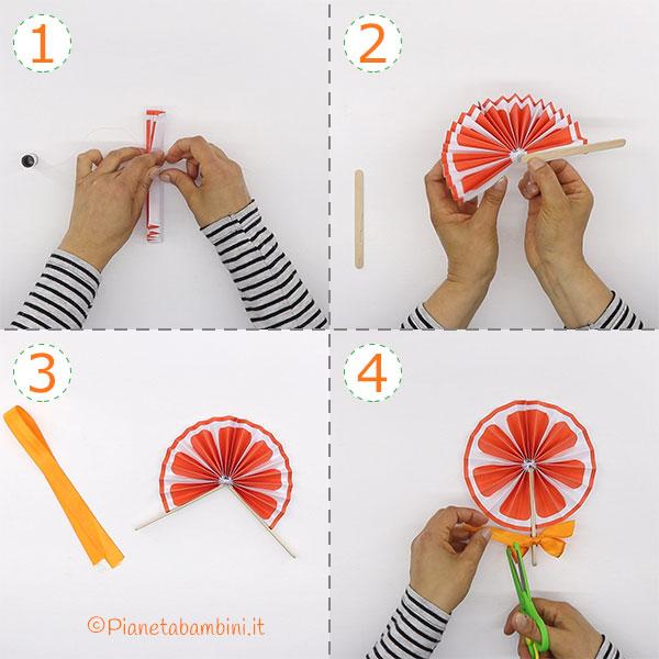 Ventaglio arancia fai da te