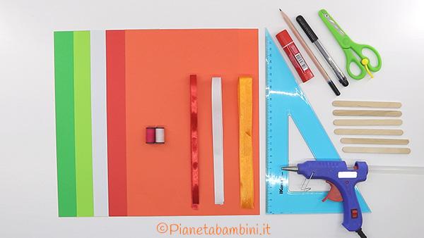 Occorrente per i ventagli di carta fai da te per bambini