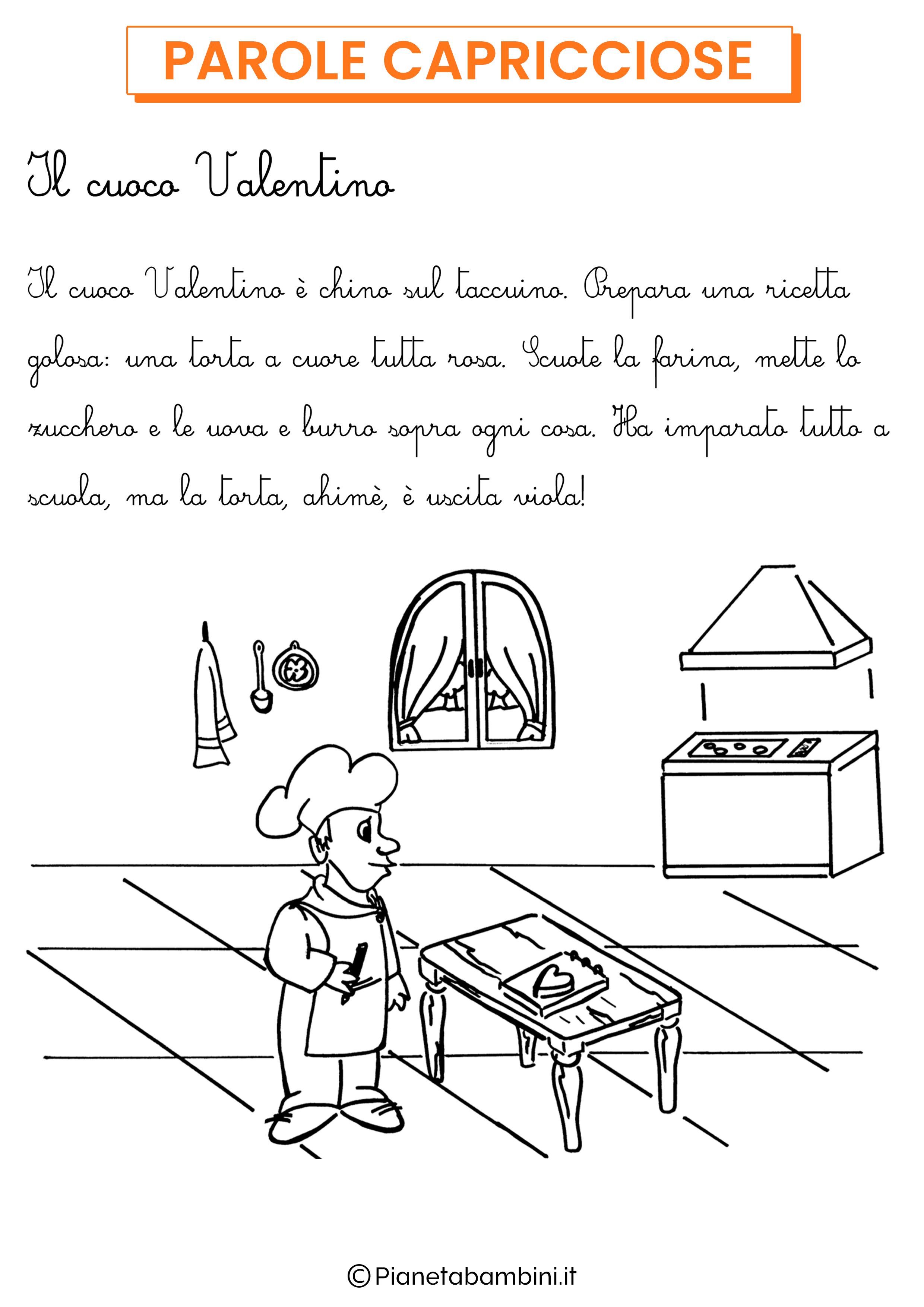 Storia in corsivo parole capricciose da stampare