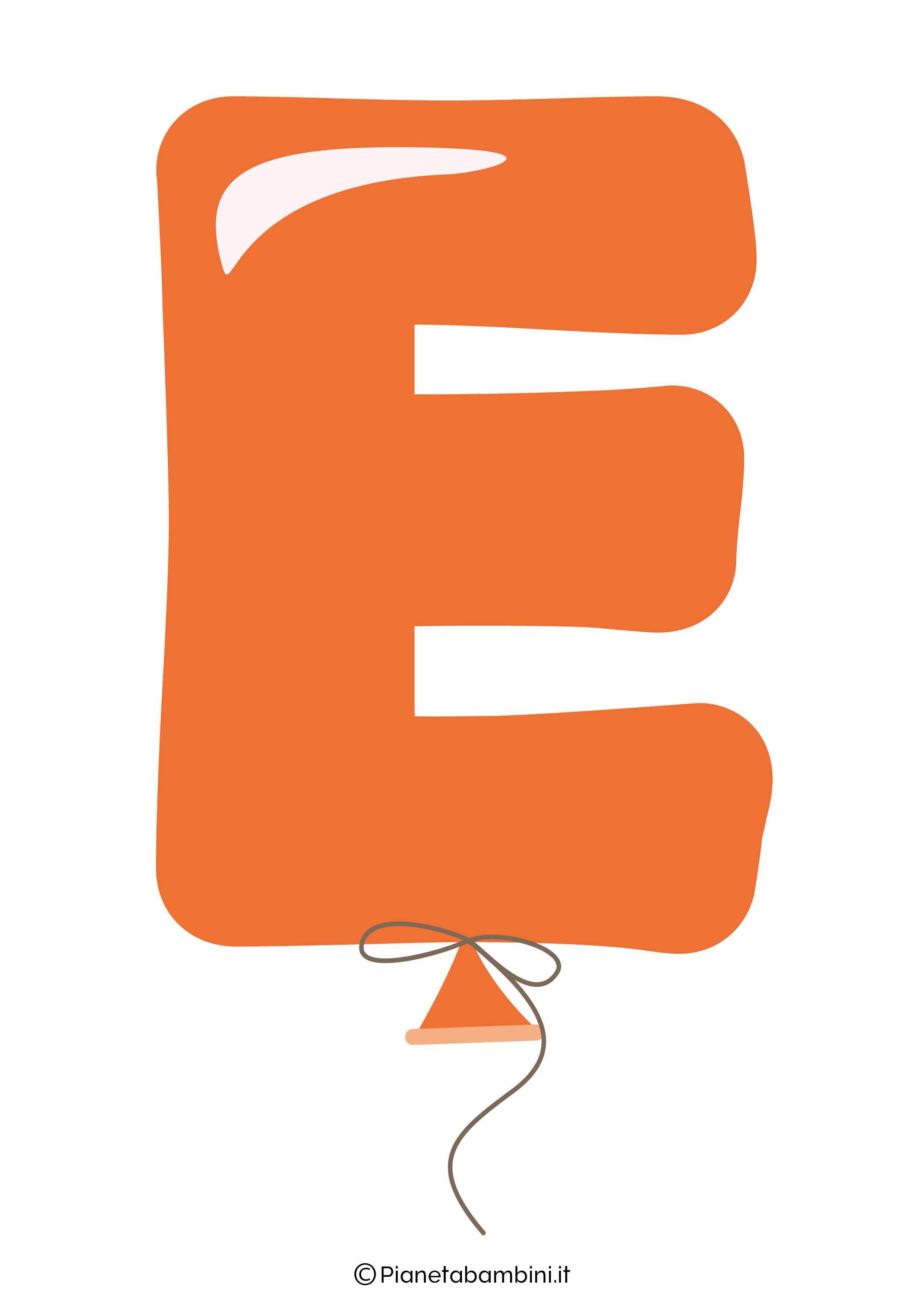 Striscione Buon Compleanno lettera E