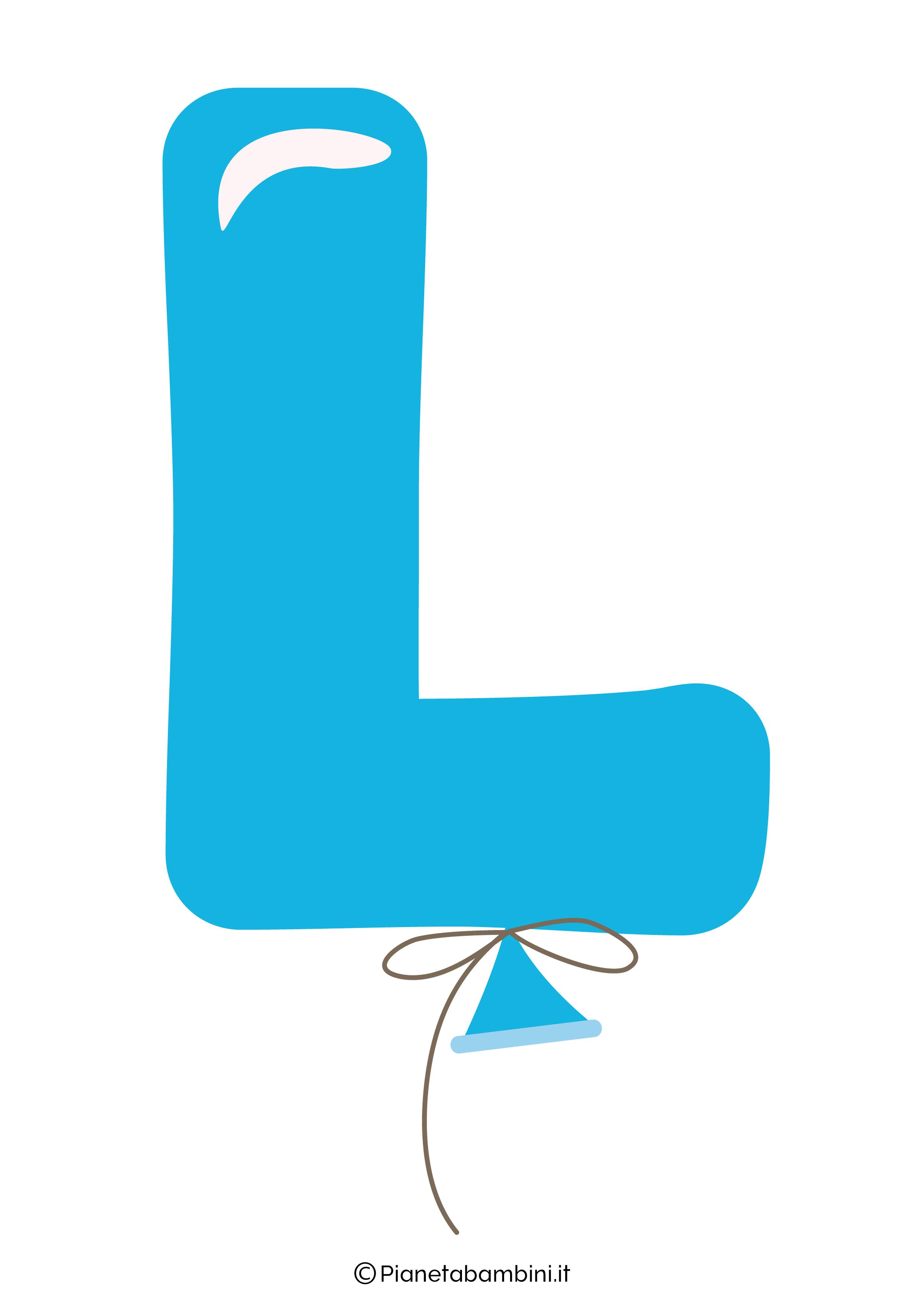 Striscione Buon Compleanno lettera L