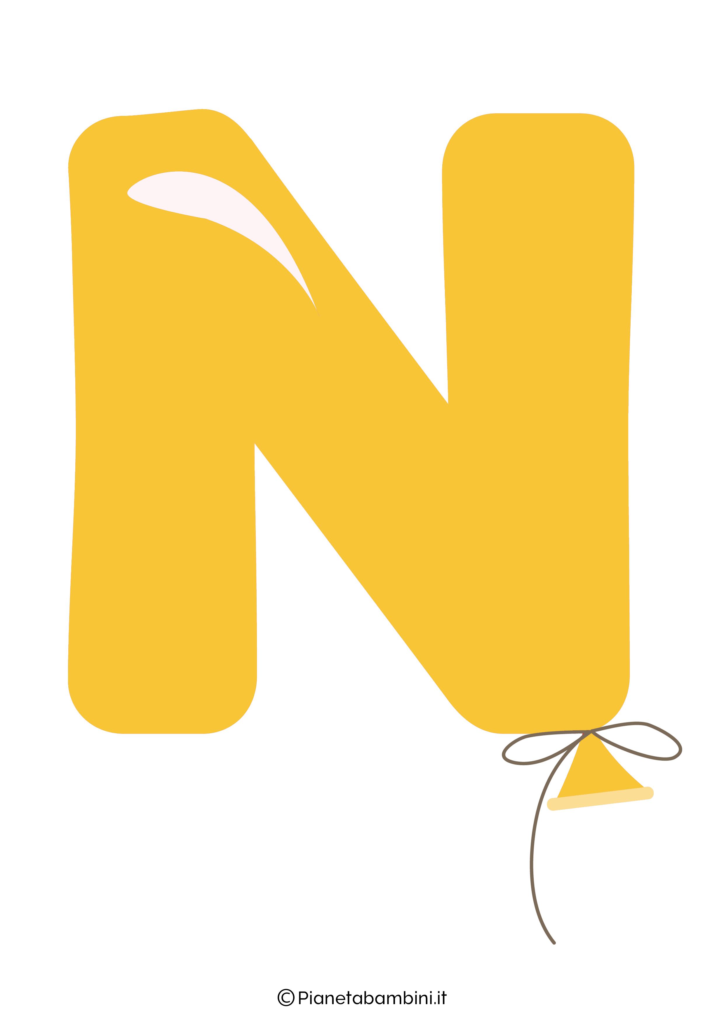Striscione Buon Compleanno lettera N